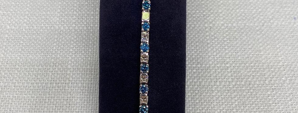 Vintage Blue & White Diamond Bracelet