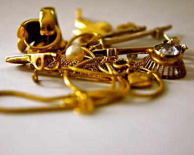 A bag of scrap gold
