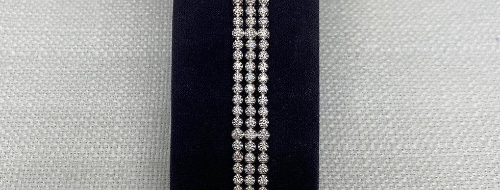 3 Row Diamond Bracelet
