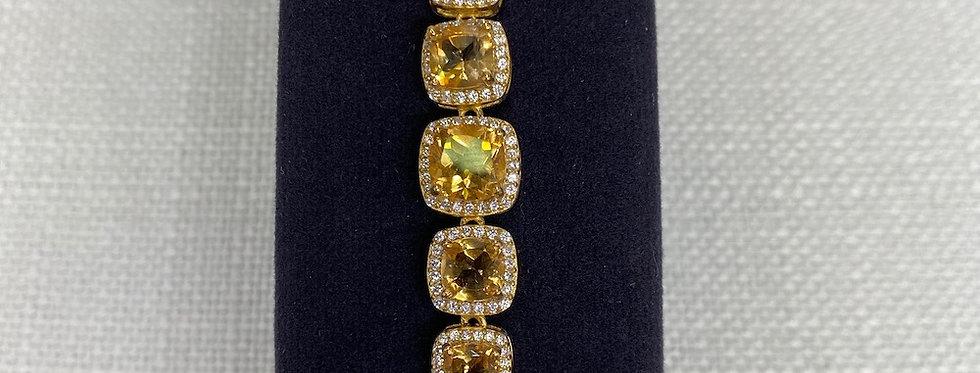 Citrine & Crystal Bracelet