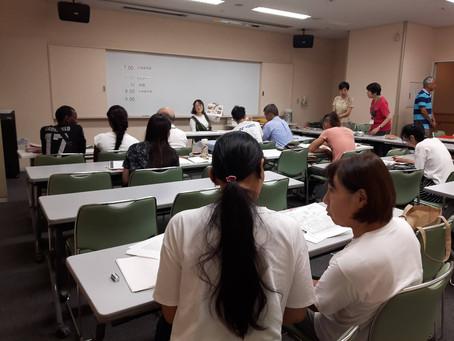 9月9日は7人の参加。3人の先生が新たに加わりました。