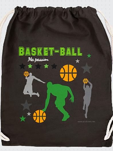 GRAND SAC A DOS basket ball Existe bleu/vert/rouge réf SC23