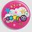 Thumbnail: Badge rond à épingle Existe en rouge/jaune/bleu - Ø 38,45 Réf BE31