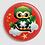 Thumbnail: Badge rond à épingle Existe en rouge/jaune/bleu - Ø 38,45 Réf BE24