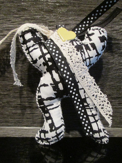 Grenouille noir et blanche réf PH