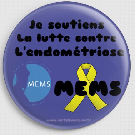 Badge rond à épingle Ø 76 mm SOUTIEN MEMS REF MS7