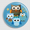Thumbnail: Badge rond à épingle Existe en rouge/jaune/bleu - Ø 38,45 Réf BE12