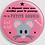 Thumbnail: Badge rond a déposer sous l'oreiller Existe bleu,rose - Ø 38,45 Réf BE8