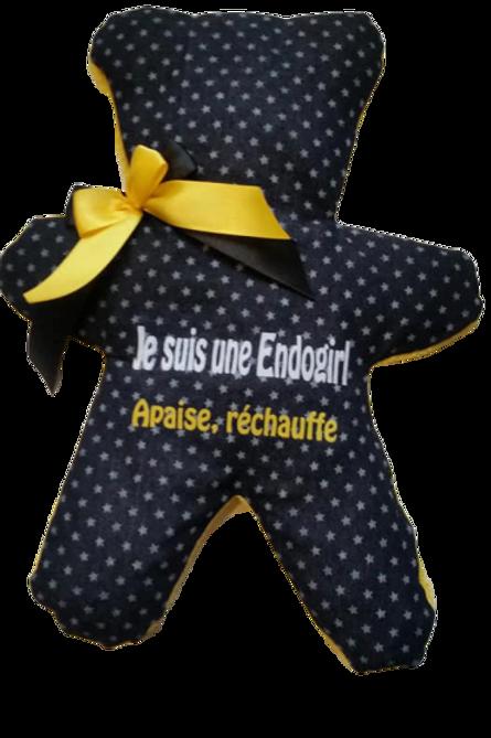"""BOUILLOTTE Réf BA71 tissus JEANS """"endométriose"""""""
