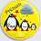 Thumbnail: Badge rond  Ø38mm Personnalisable Existe bleu/vert/rose/jaune Réf BP6