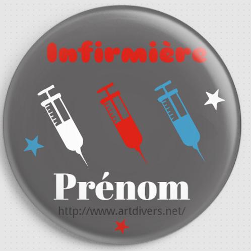 Badge rond à épingle personnalisable - 38mm REF BI D
