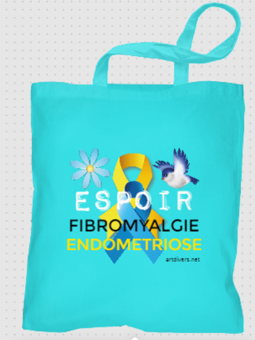 TOTE BAG FIBROMYALGIE et ENDOMETRIOSE REF TB1