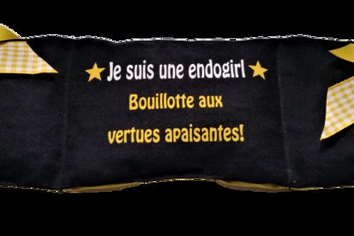 """BOUILLOTTE Réf BA60 tissus NOIR """"endométriose"""""""