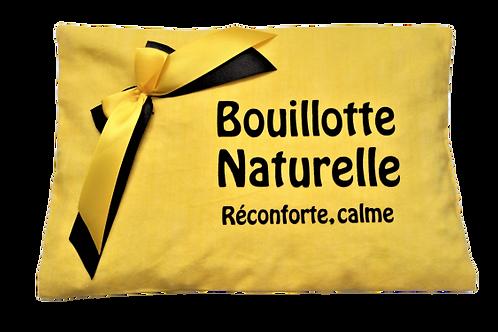 """BOUILLOTTE Réf BA51 tissus jaune """"endométriose"""""""