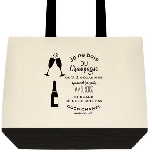SAC EN TOILE BICOLORE champagne
