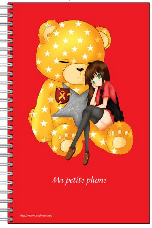 "CAHIER ""BOBYS"" Ma petite plume rouge"