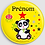 Thumbnail: Badge rond  Ø38mm Personnalisable Existe bleu/vert/rose/jaune Réf BP8