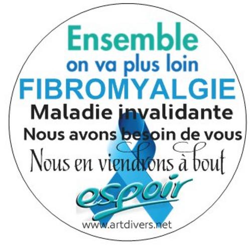 25 Autocollants enveloppes ou autres supports fibromyalgie Réf ACF1