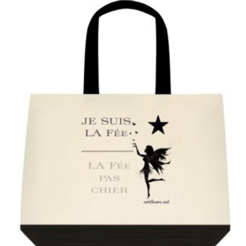 SAC EN TOILE BICOLORE CITATION FEE