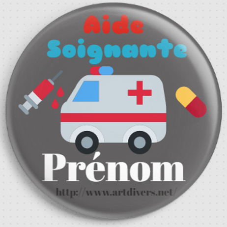 Badge rond à épingle personnalisable - 38mm REF BP 3