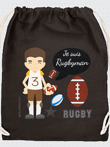 GRAND SAC A DOS rugbyman réf SC9