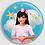 Thumbnail: Badge rond à épingle Existe en rouge/jaune/bleu - Ø 38,45 Réf BE18