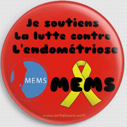 Badge rond à épingle Ø 76 mm SOUTIEN MEMS REF MS10