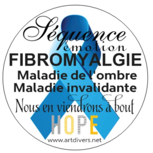 25 Autocollants enveloppes ou autres supports fibromyalgie Réf ACF2