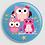 Thumbnail: Badge rond à épingle Existe en rouge/jaune/bleu - Ø 38,45 Réf BE13