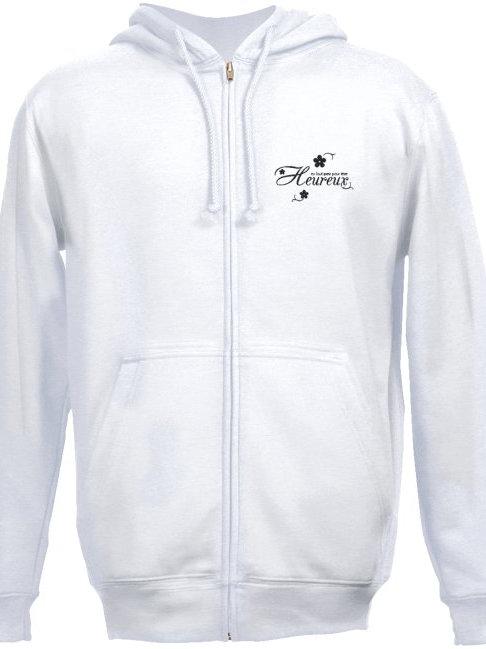 GILET Sweat-shirt à capuche brodé Réf SSG07