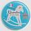 Thumbnail: Badge rond à épingle - Existe 2 coloris de bleu Ø 38,45,56,76 REF N1
