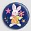 Thumbnail: Badge rond à épingle Existe en rouge/jaune/bleu - Ø 38,45 Réf BE25