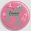 Thumbnail: Badge rond à épingle - Existe 2 coloris de rose Ø 38,45,56,76 REF N2