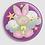 Thumbnail: Badge rond à épingle Existe en rouge/jaune/bleu - Ø 38,45 Réf BE39