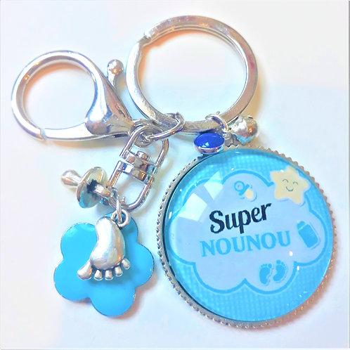 Porte clé - bijoux de sac XXL SUPER NOUNOU Réf EC8