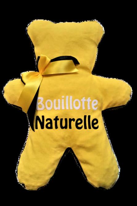"""BOUILLOTTE Réf BA70 tissus JAUNE """"endométriose"""""""
