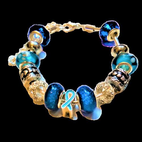 Réf PF11 Bracelet Européen type Pandora RÉGLABLE