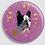Thumbnail: Badge rond à épingle Ø 76mm  Ref B44