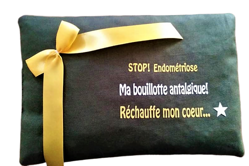 "BOUILLOTTE Réf BA34 tissus KAKI ""endométriose"""