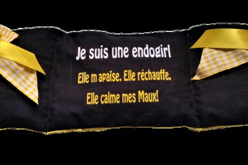 """BOUILLOTTE Réf BA61tissus NOIR """"endométriose"""""""
