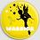 Thumbnail: Badge rond à épingle - Existe blanc/jaune Ø 56 REF BD 4