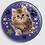 Thumbnail: Badge rond à épingle Ø 76mm  Ref Bd28