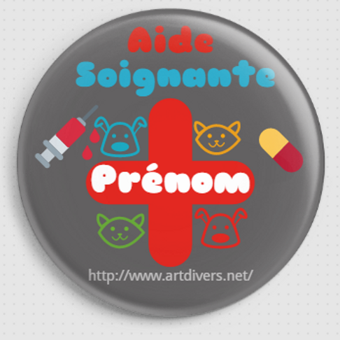 Badge rond à épingle personnalisable - 38mm REF BP 2