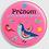 Thumbnail: Badge rond  Ø38mm Personnalisable Existe bleu/vert/rouge/rose Réf BP11