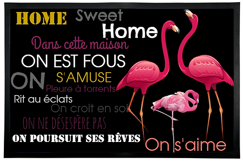 PAILLASSON FLAMANT ROSE