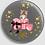 Thumbnail: Badge rond à épingle Ø 76mm  Ref B43