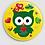 Thumbnail: Badge rond à épingle Existe en rouge/jaune/bleu - Ø 38,45 Réf BE11
