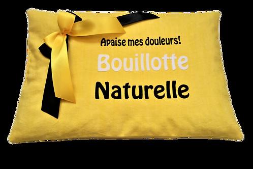 """BOUILLOTTE Réf BA52 tissus jaune """"endométriose"""""""