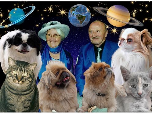 EXEMPLE DE PERSONNALISATION COUPLE : PASSION L'UNIVERS ET LEURS ANIMAUX