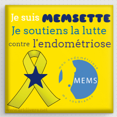 Badge Carrée à épingle 40x40mm - Je soutiens MEMS REF CA2